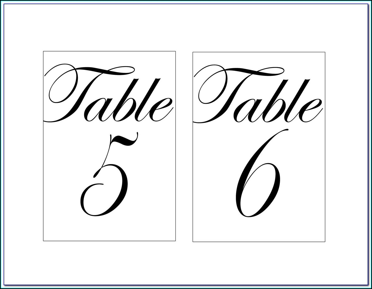 Wine Bottle Table Number Hang Tags Template