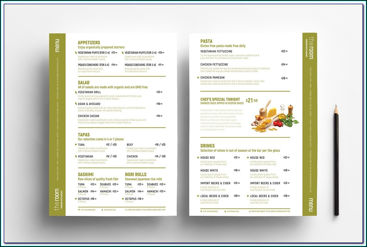 Wine Menu Design Templates Free