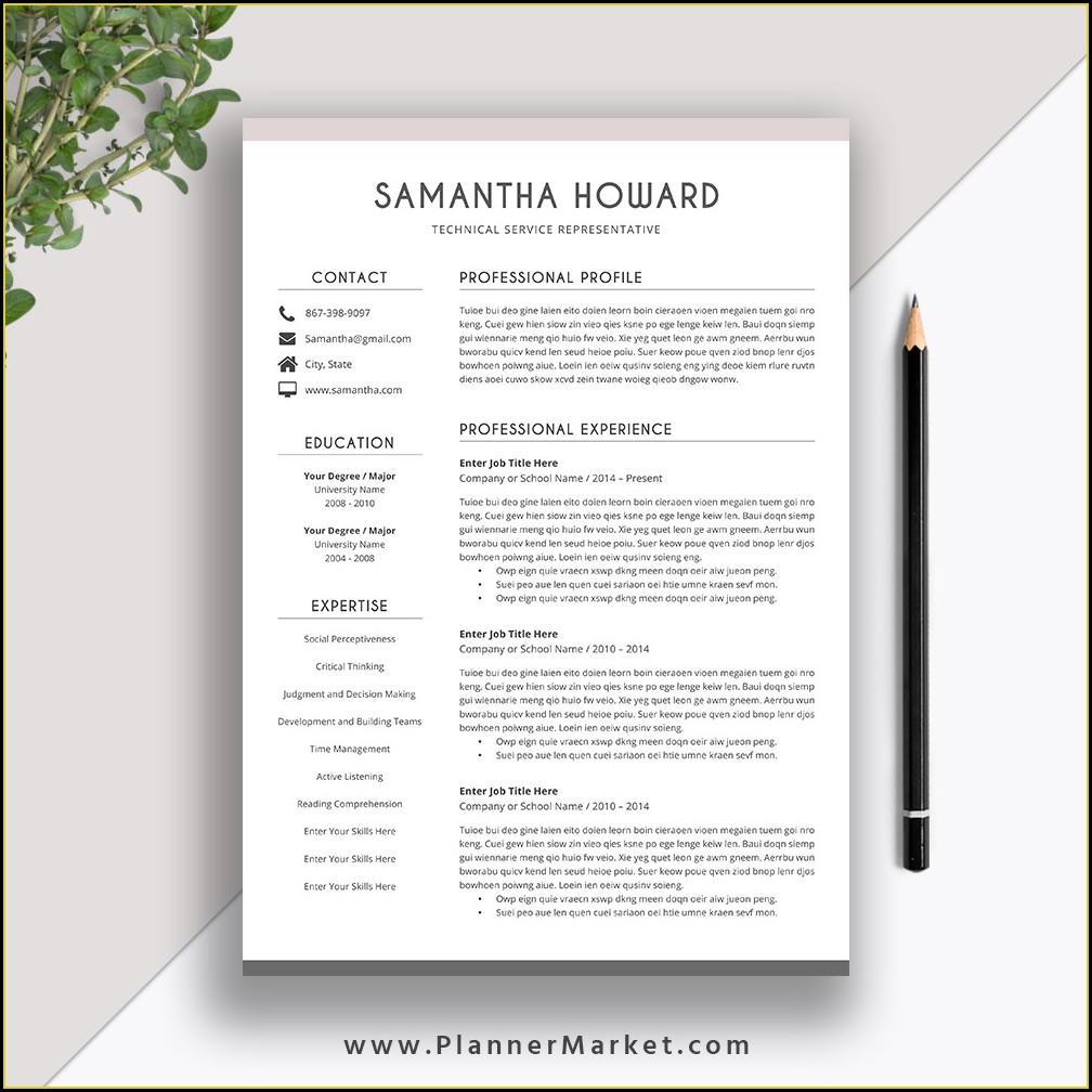 Word Cover Letter For Resume Template