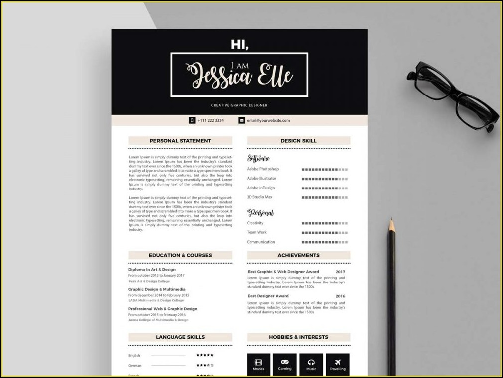 Word Doc Editable Resume Template Free Download