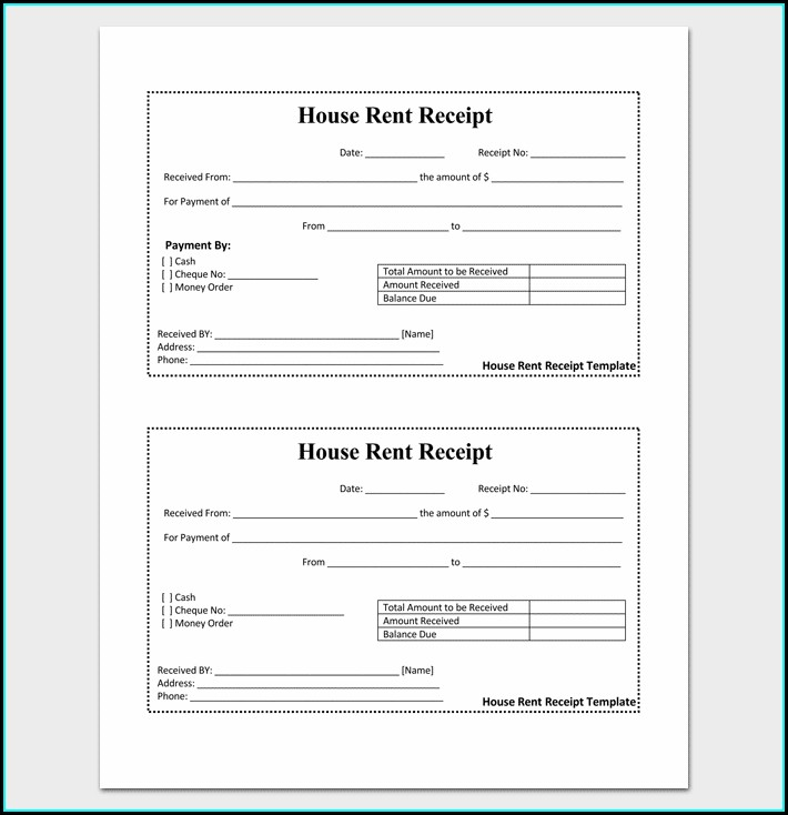 Word Doc Receipt Template