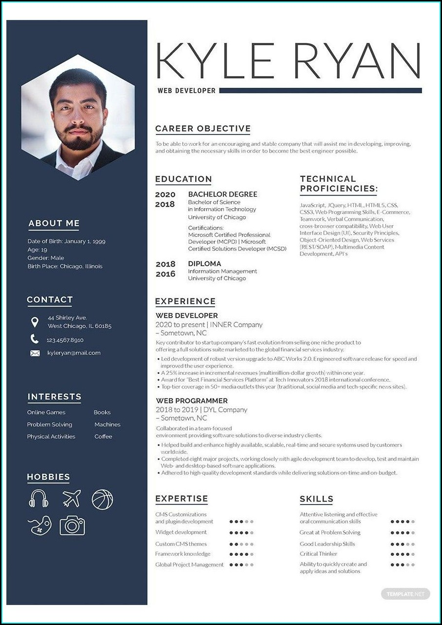 Word Doc Resume Template Free Download