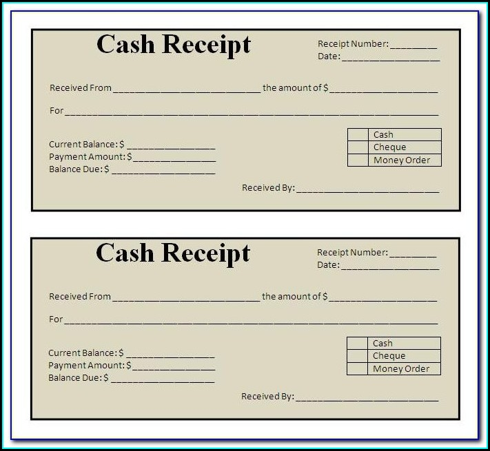 Word Document Car Receipt Template
