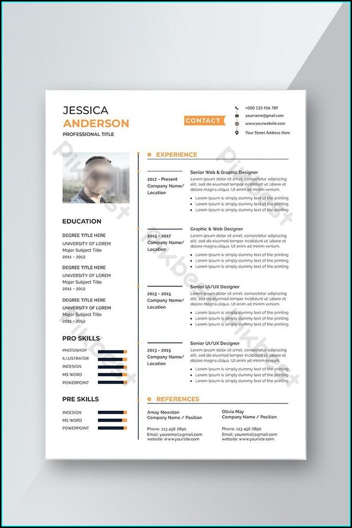 Word Document Downloadable Editable Free Resume Templates