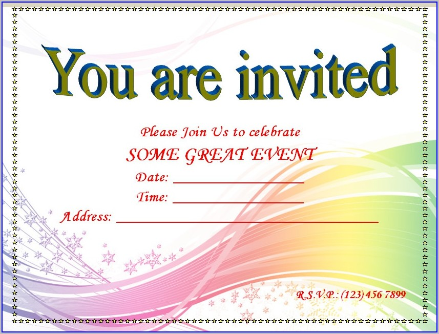Word Document Free Invitation Templates For Word