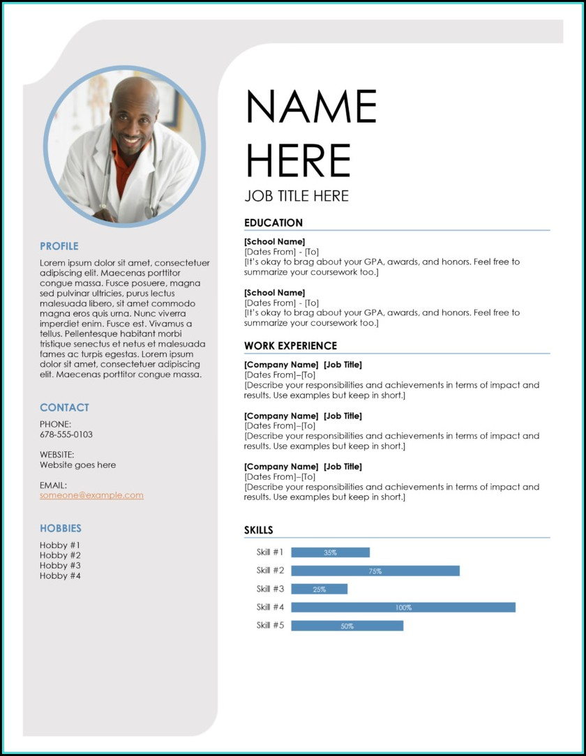 Word Document Free Resume Template