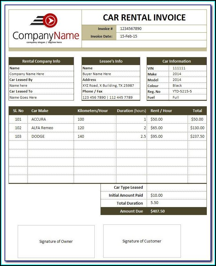 Word Document Receipt Template Free