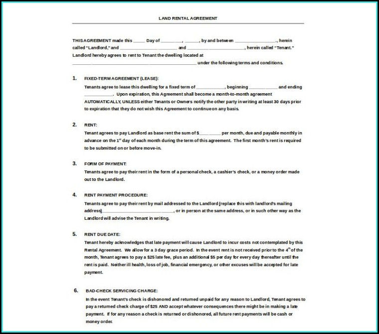 Word Document Templates Lease Agreement