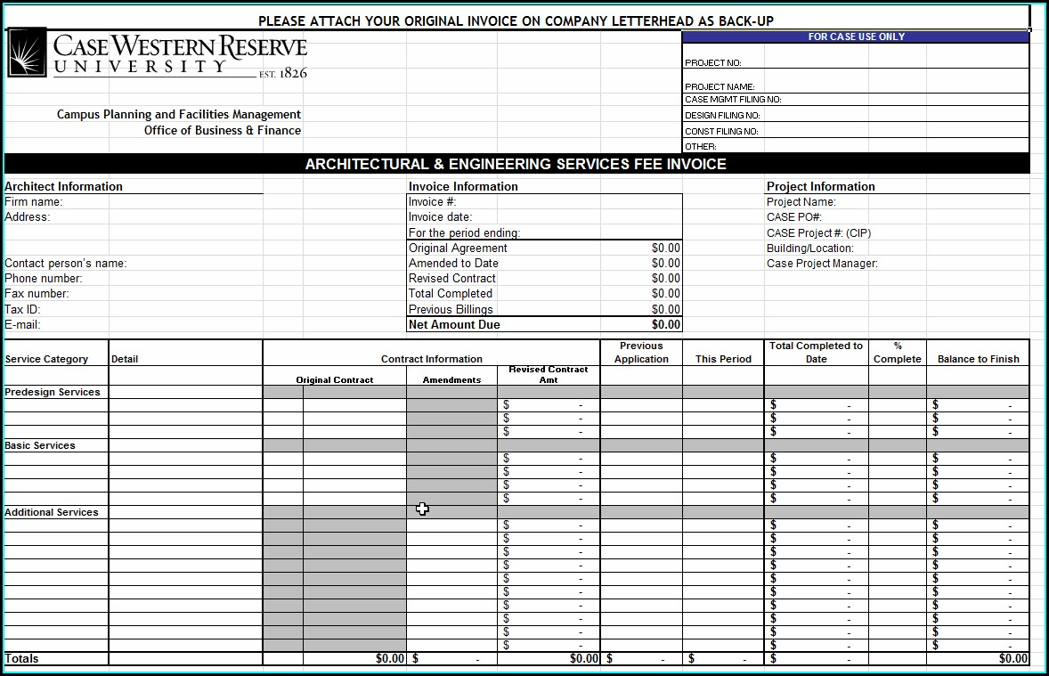 Word Document Word Doc Invoice Template