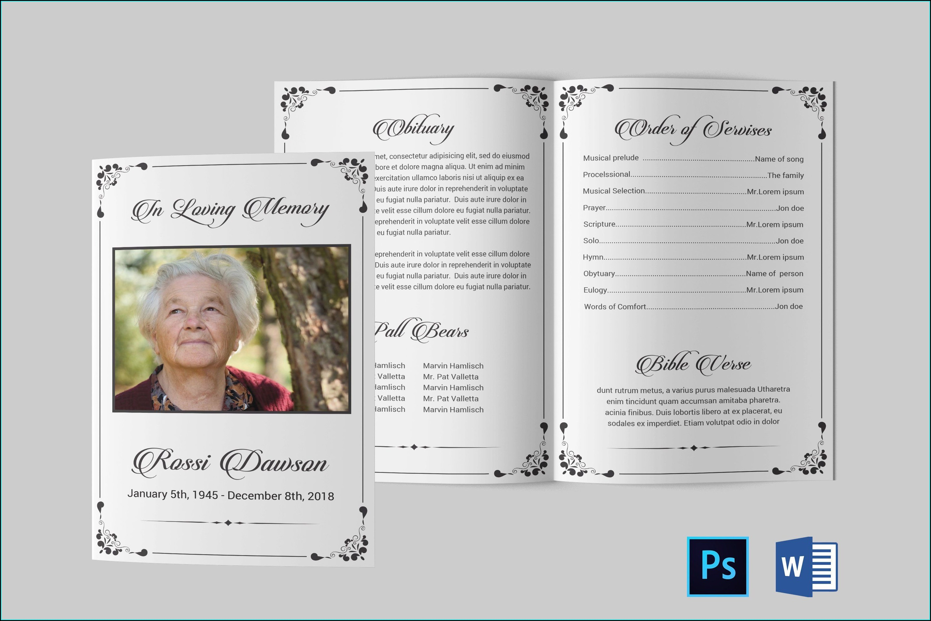 Word Funeral Program Template