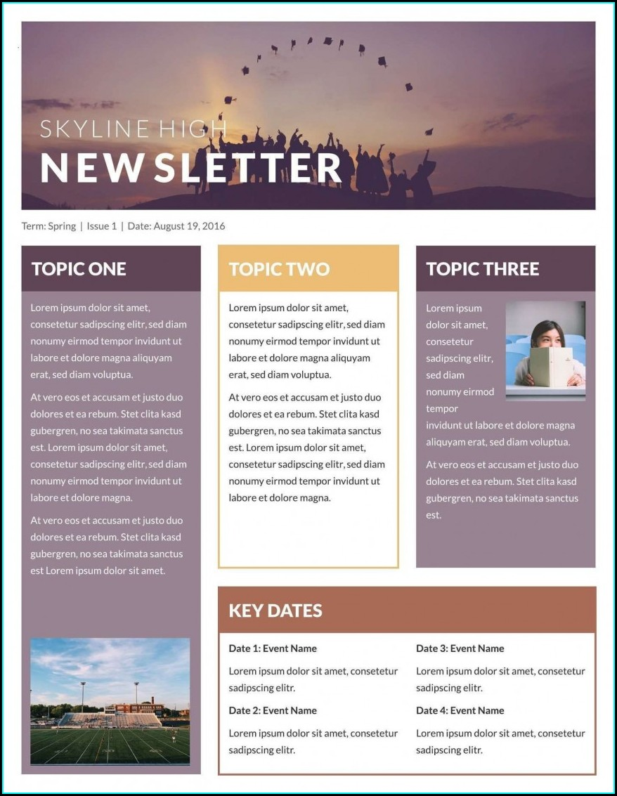 Word Newsletter Template Free