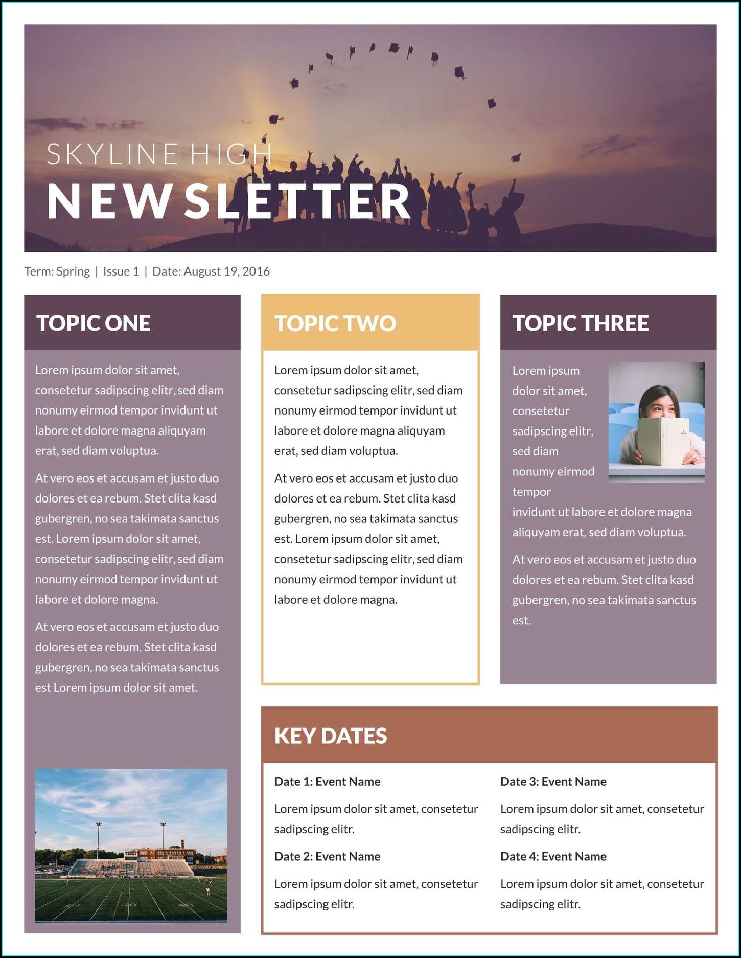 Word Newsletter Templates Free