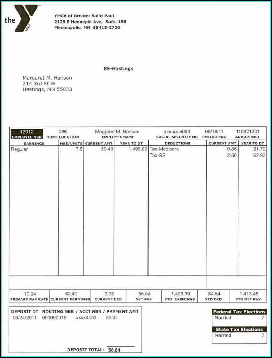 Word Pay Stub Template
