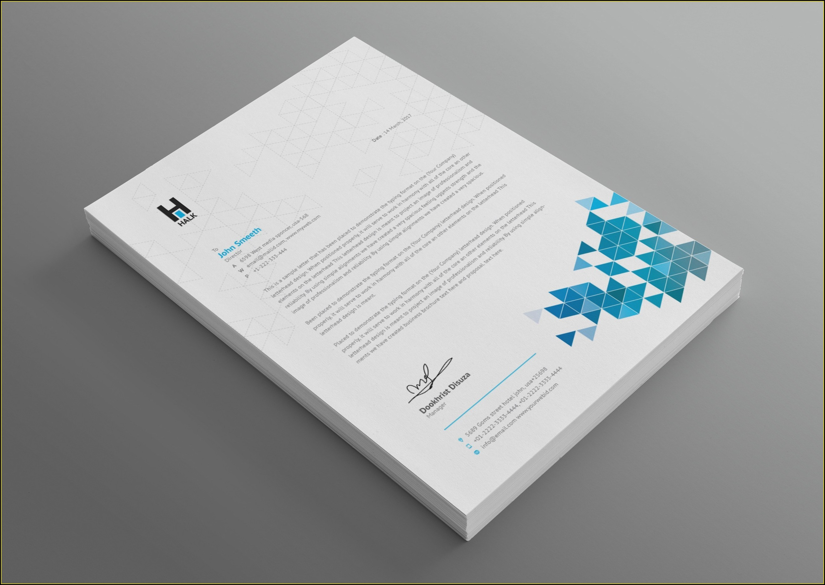 Word Template For Business Letterhead
