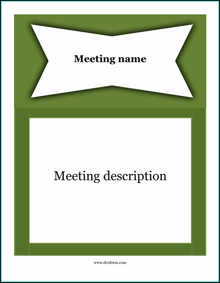 Word Template For Meeting Notes
