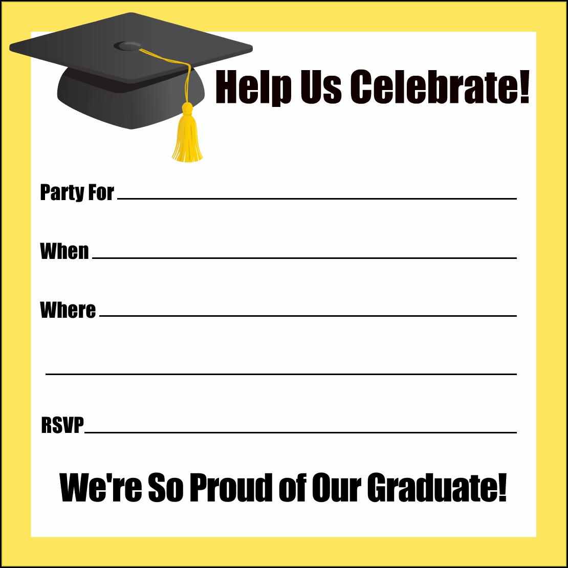 Word Templates For Graduation Invitations