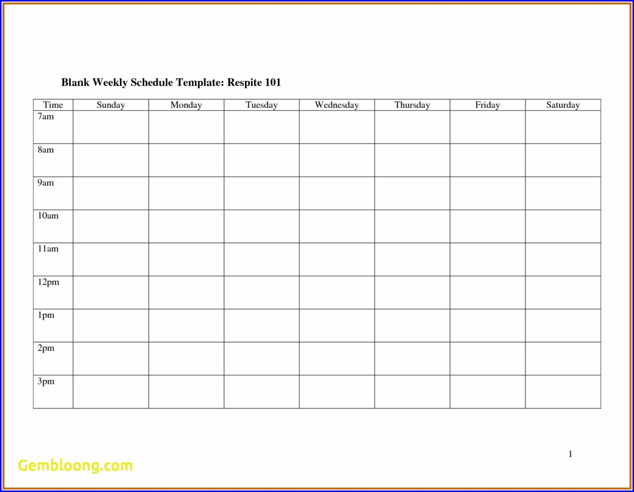 Work Plan Template Microsoft Word