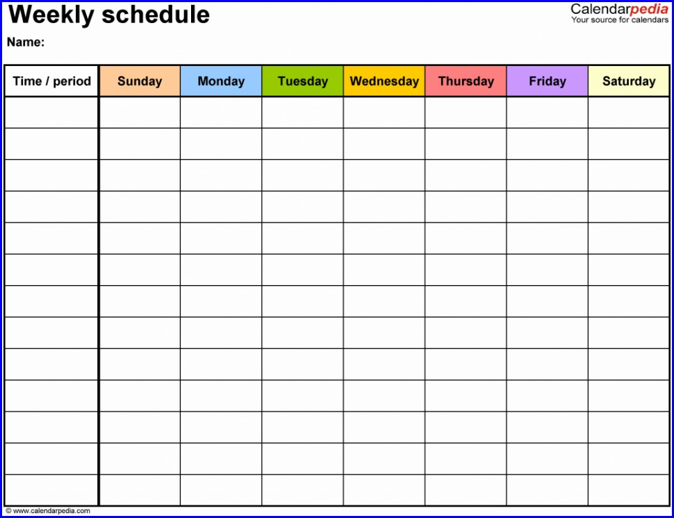 Work Plan Template Xls