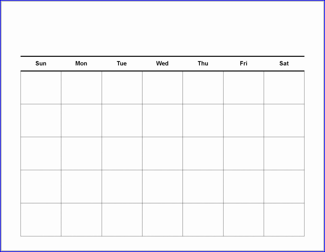 Work Week Calendar Template 2018