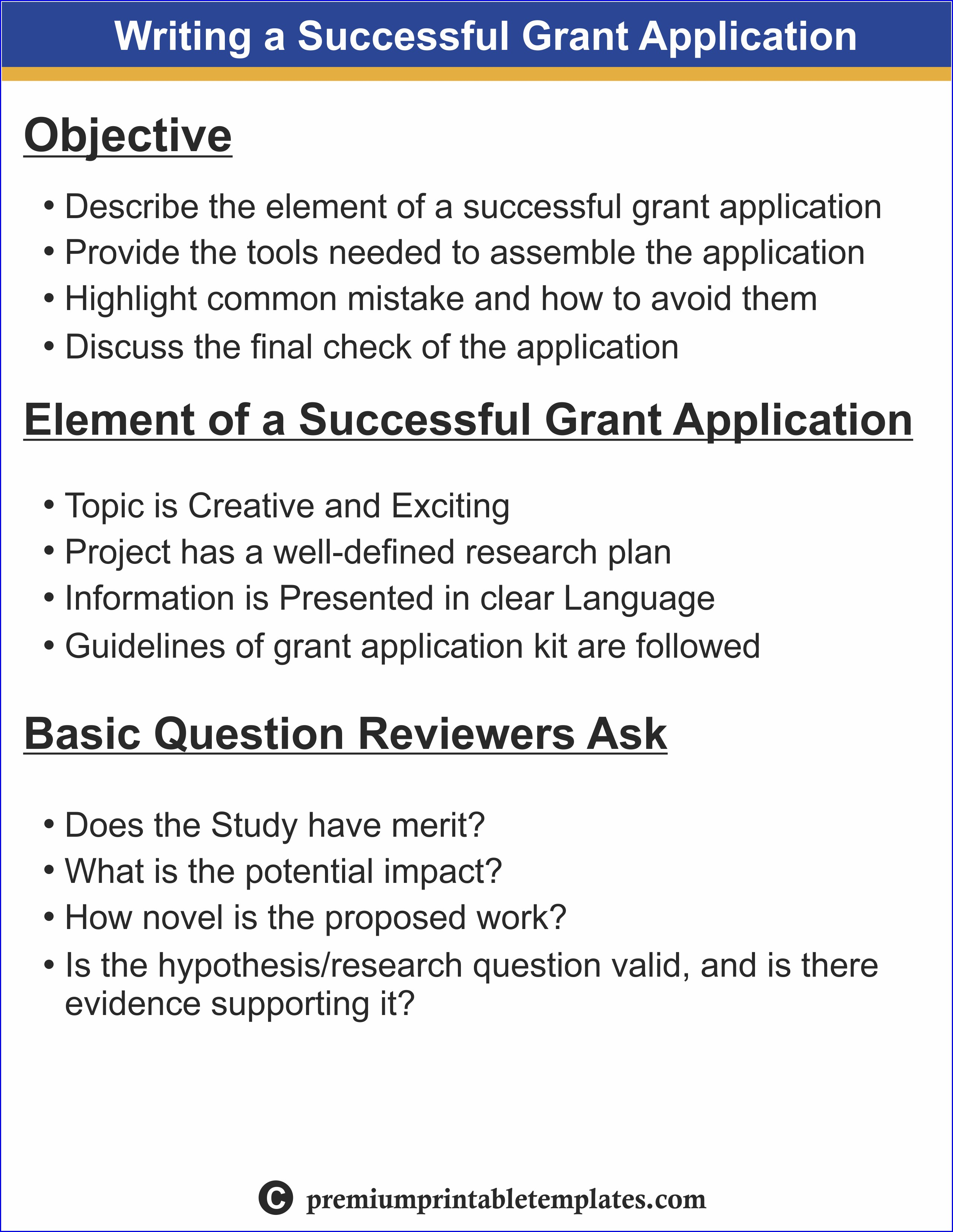 Writing A Successful Grant Proposal Sample