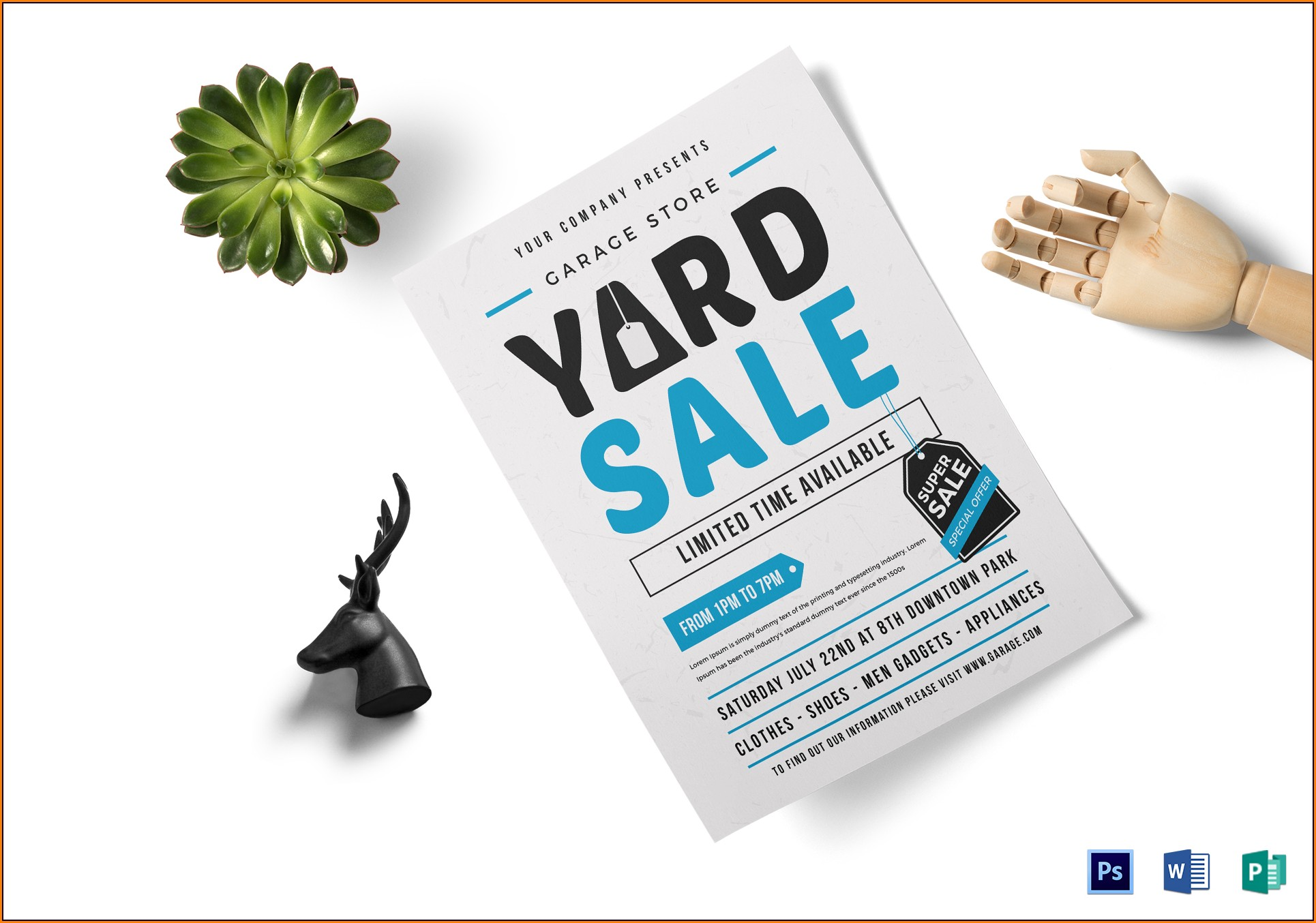 Yard Sale Flyer Template Publisher