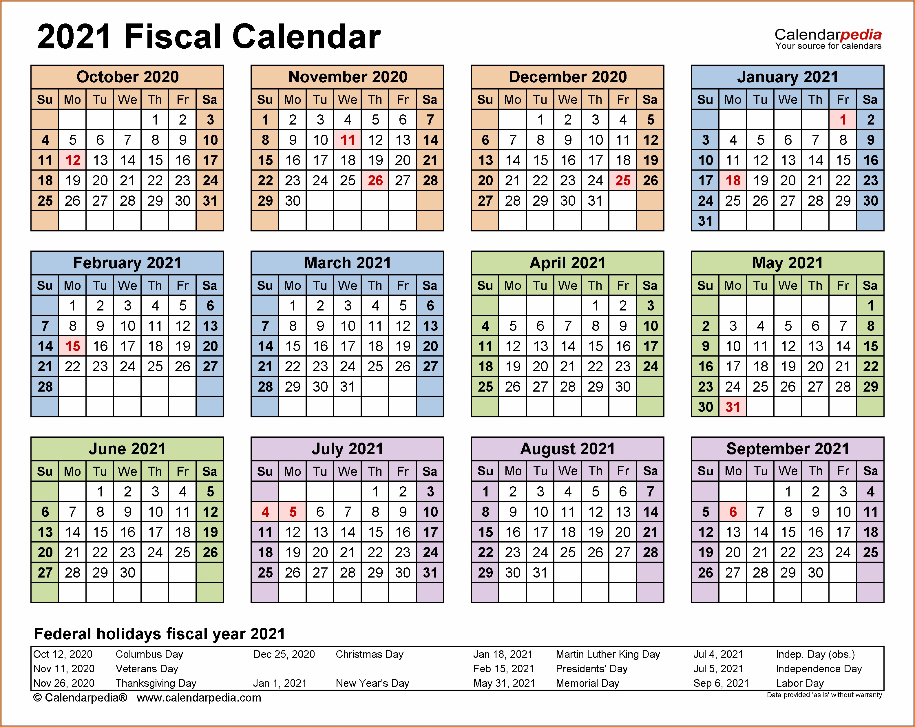 Yearly Calendar 2021 Biweekly Payroll Calendar Template