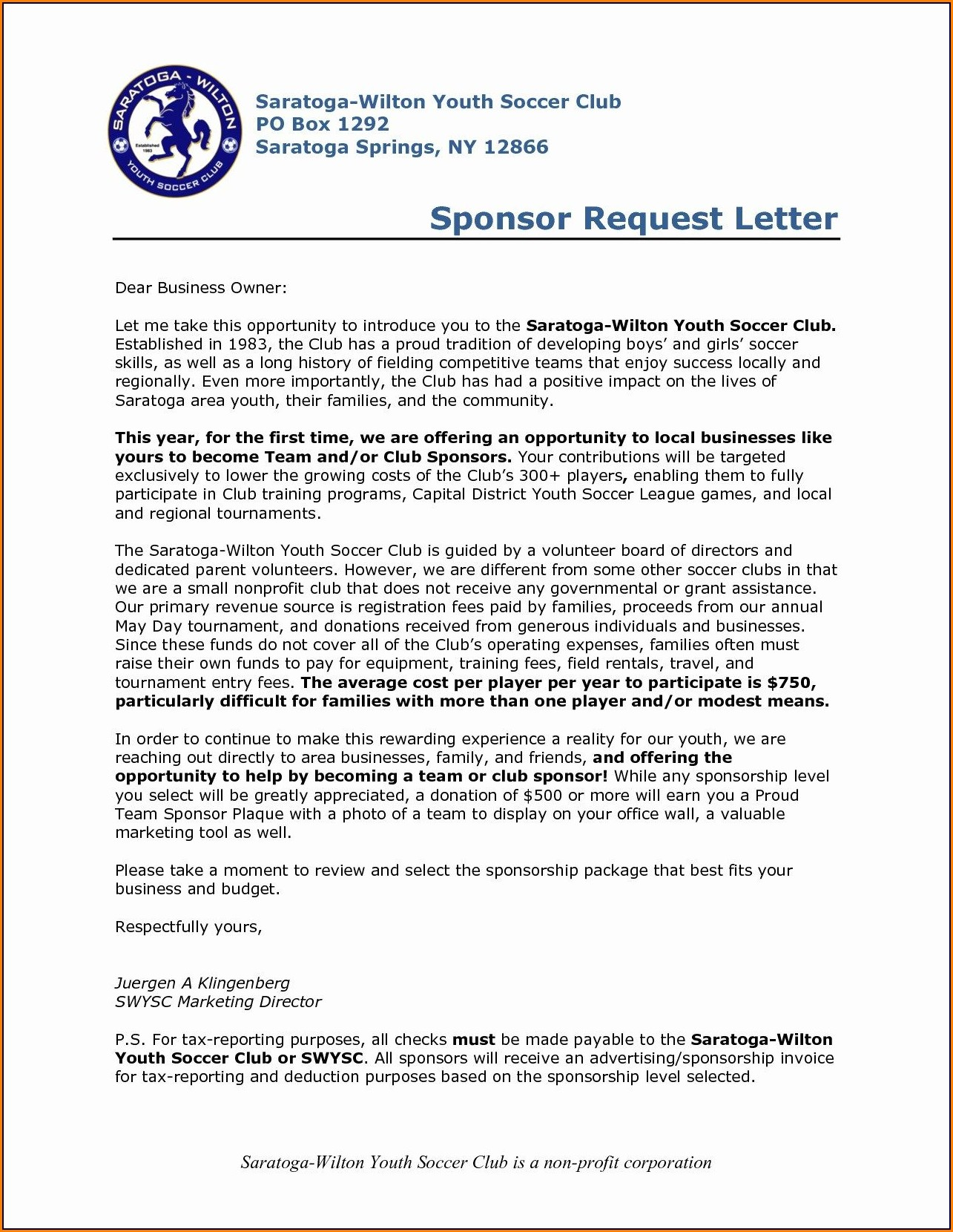 Youth Program Proposal Template