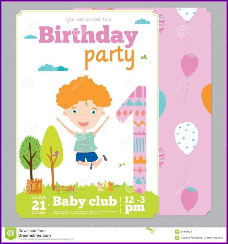 1st Birthday Create Birthday Invitation Card With Photo Free