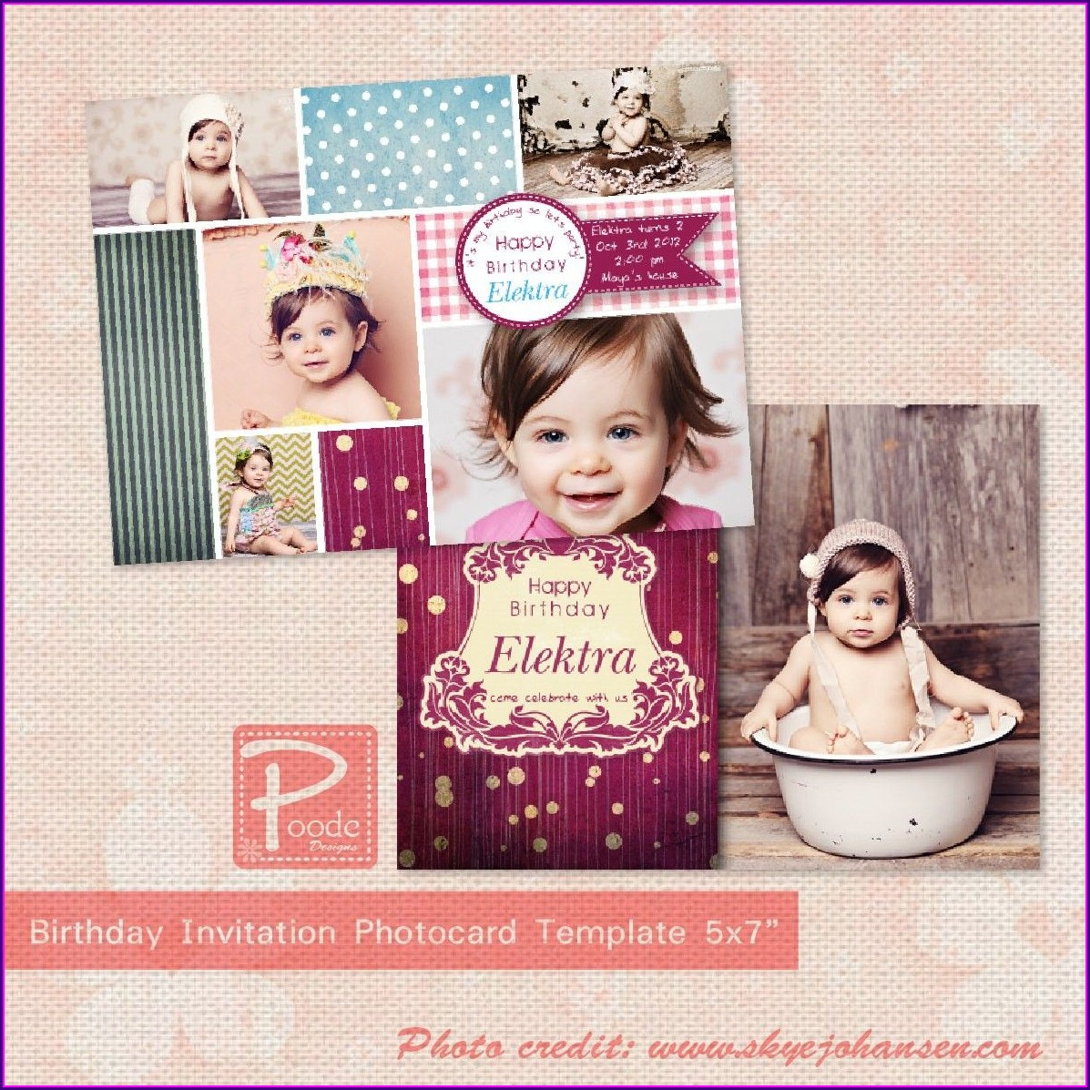 1st Birthday Invitations Girl Free