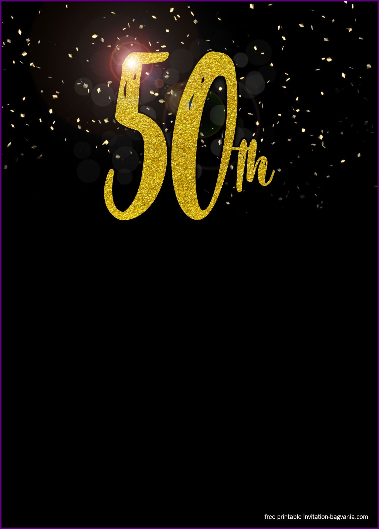 50th Birthday Invitation Templates For Men