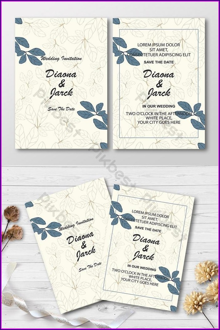 Background Template Wedding Invitation Card Design