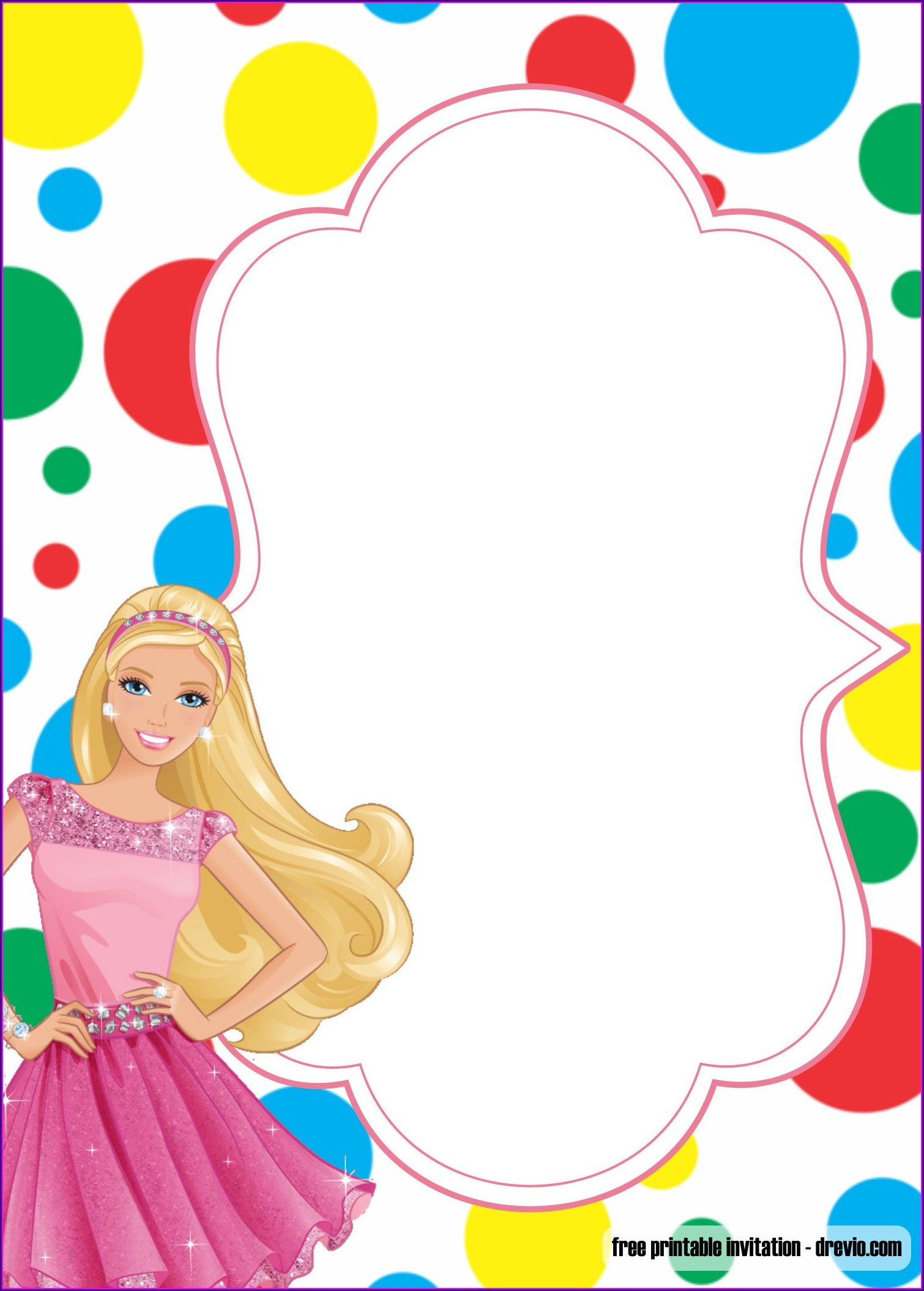 Barbie Princess Birthday Invitations