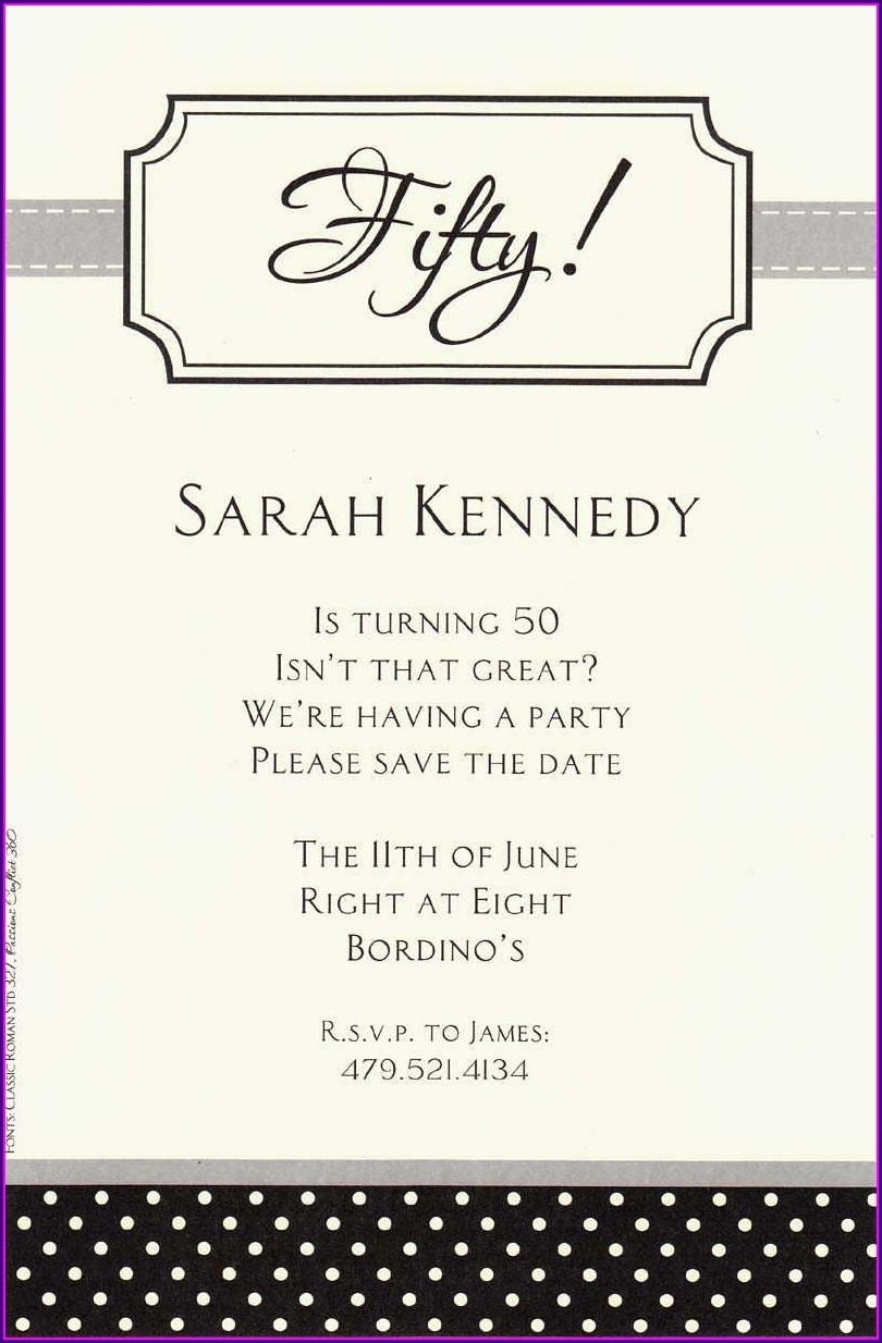 Birthday Dinner Invitation Text Message Sample