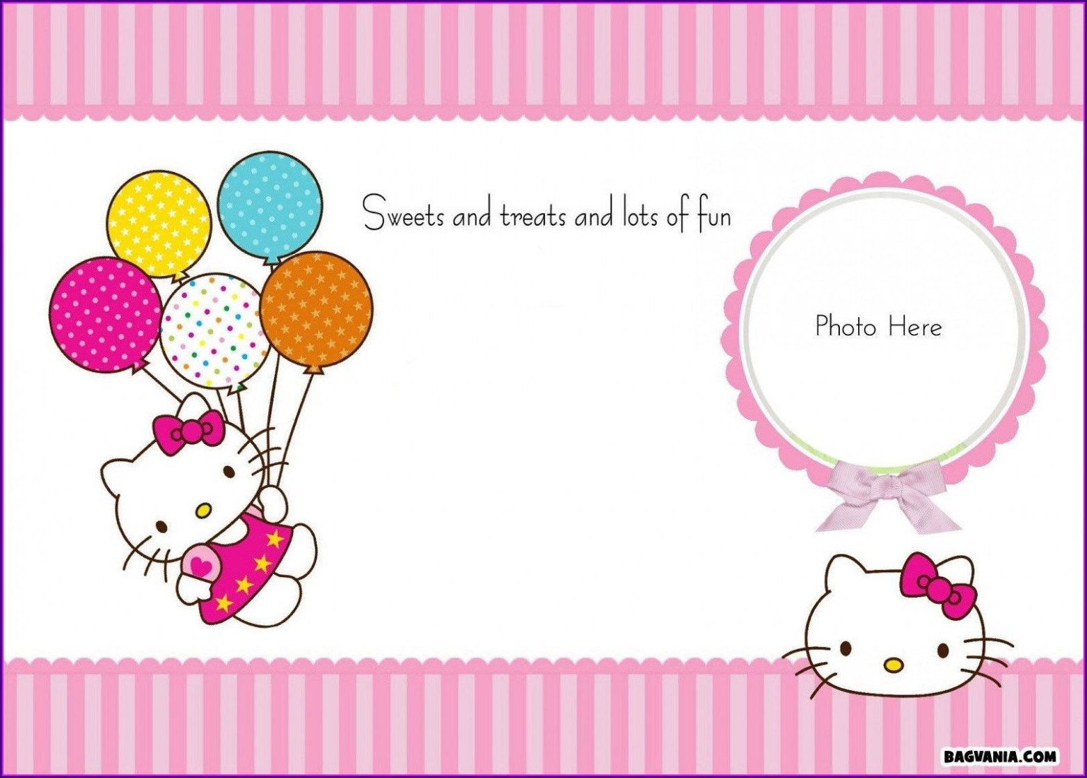 Birthday Invitation Hello Kitty Background