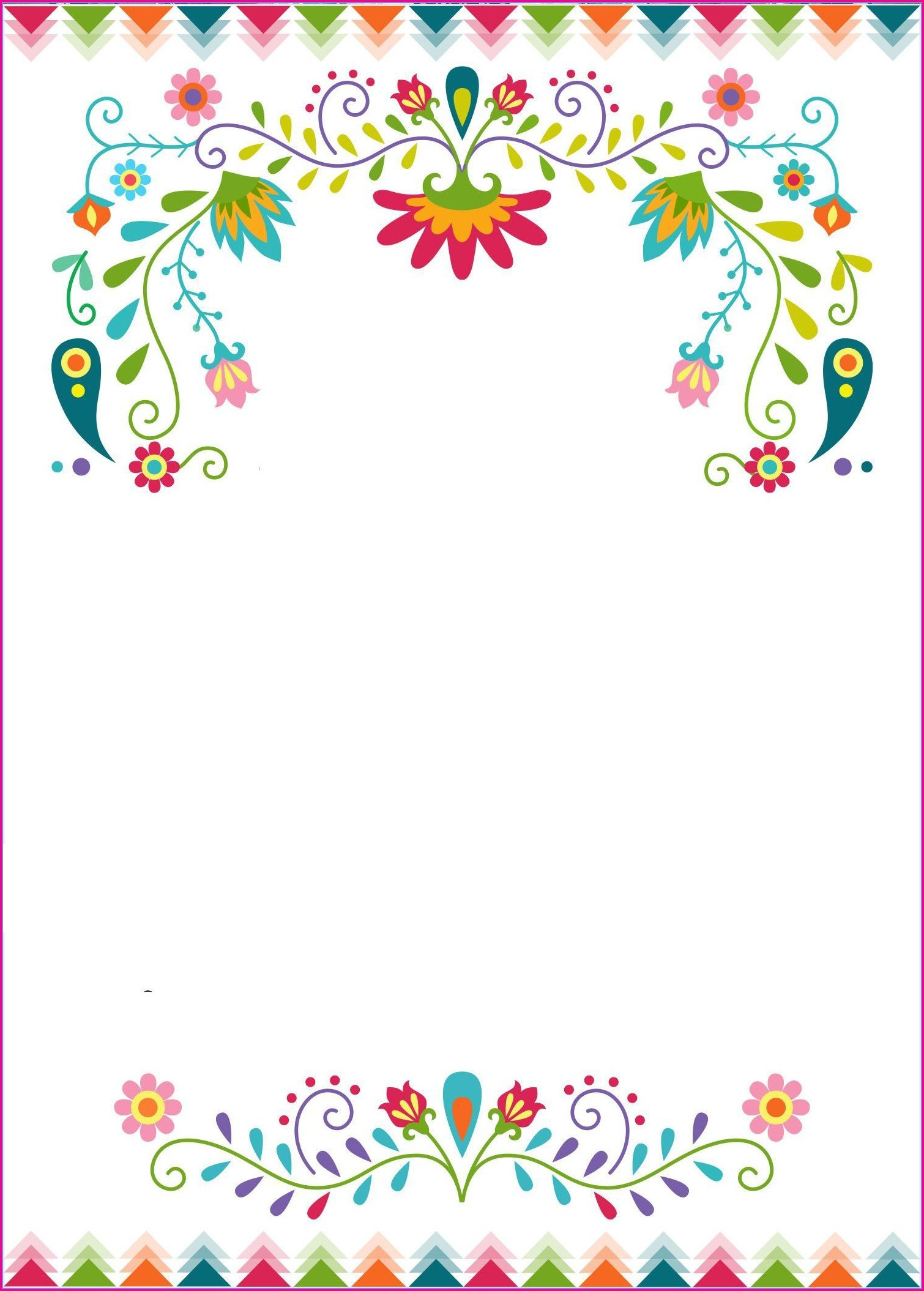 Blank Fiesta Invitation Template Free