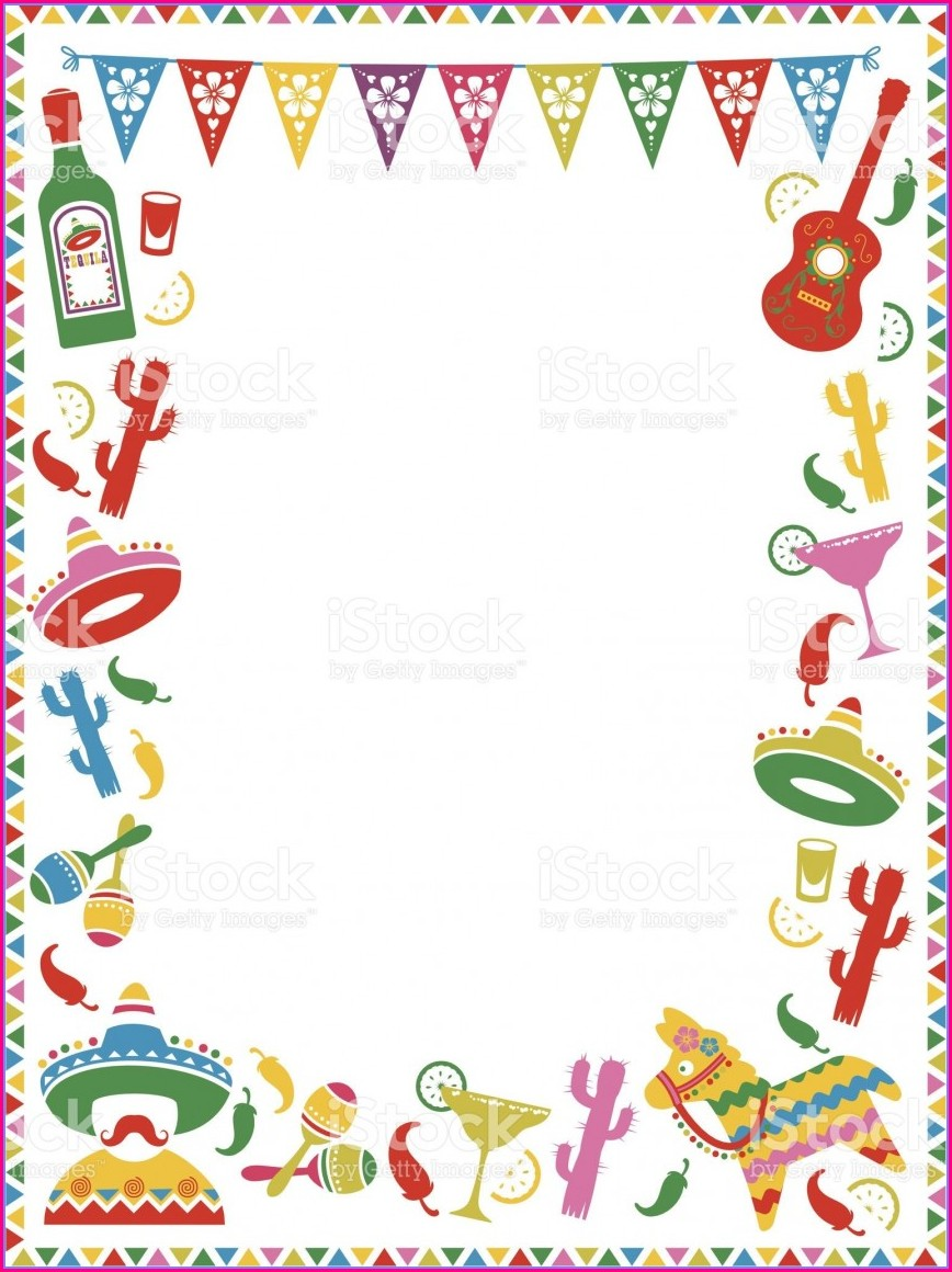 Blank Fiesta Theme Invitation Template