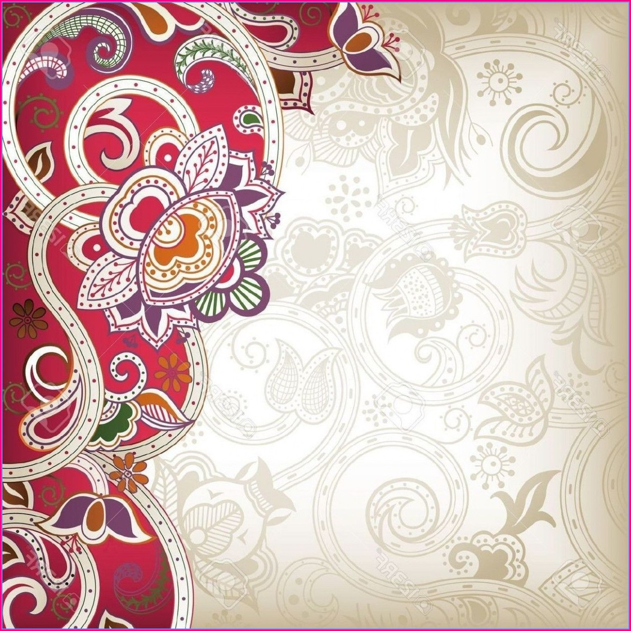 Blank Hindu Wedding Invitation Card Design