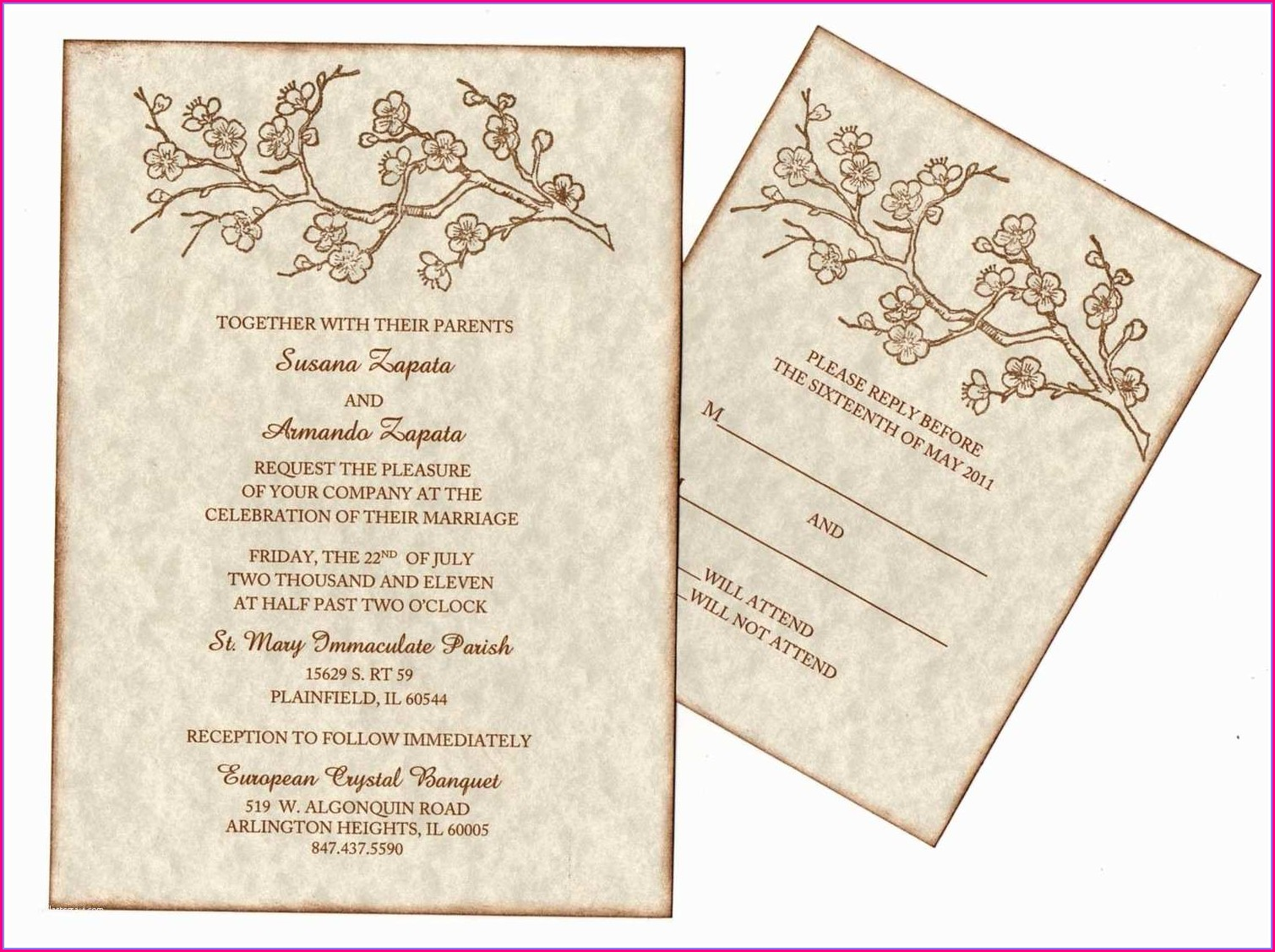 Blank Hindu Wedding Invitation Card Template