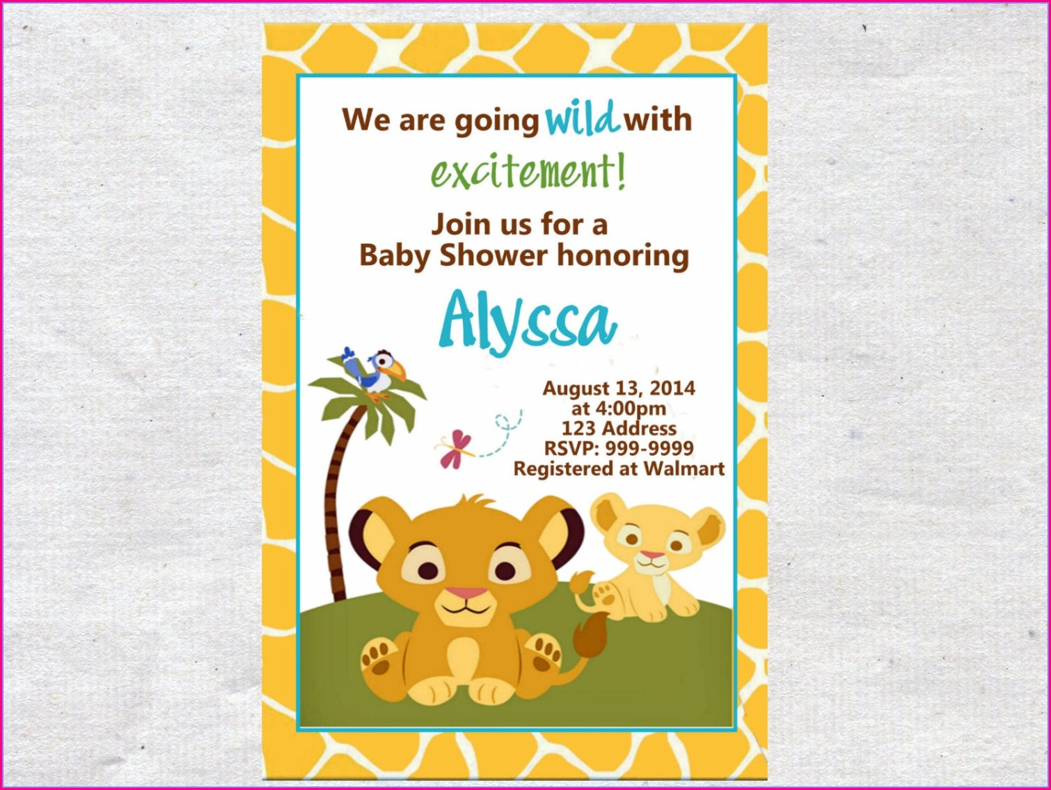 Blank Lion King Invitations