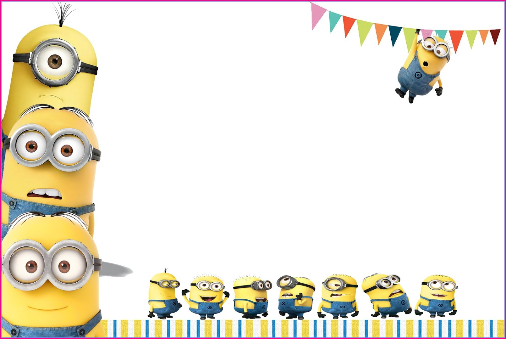 Blank Minion Birthday Invitations