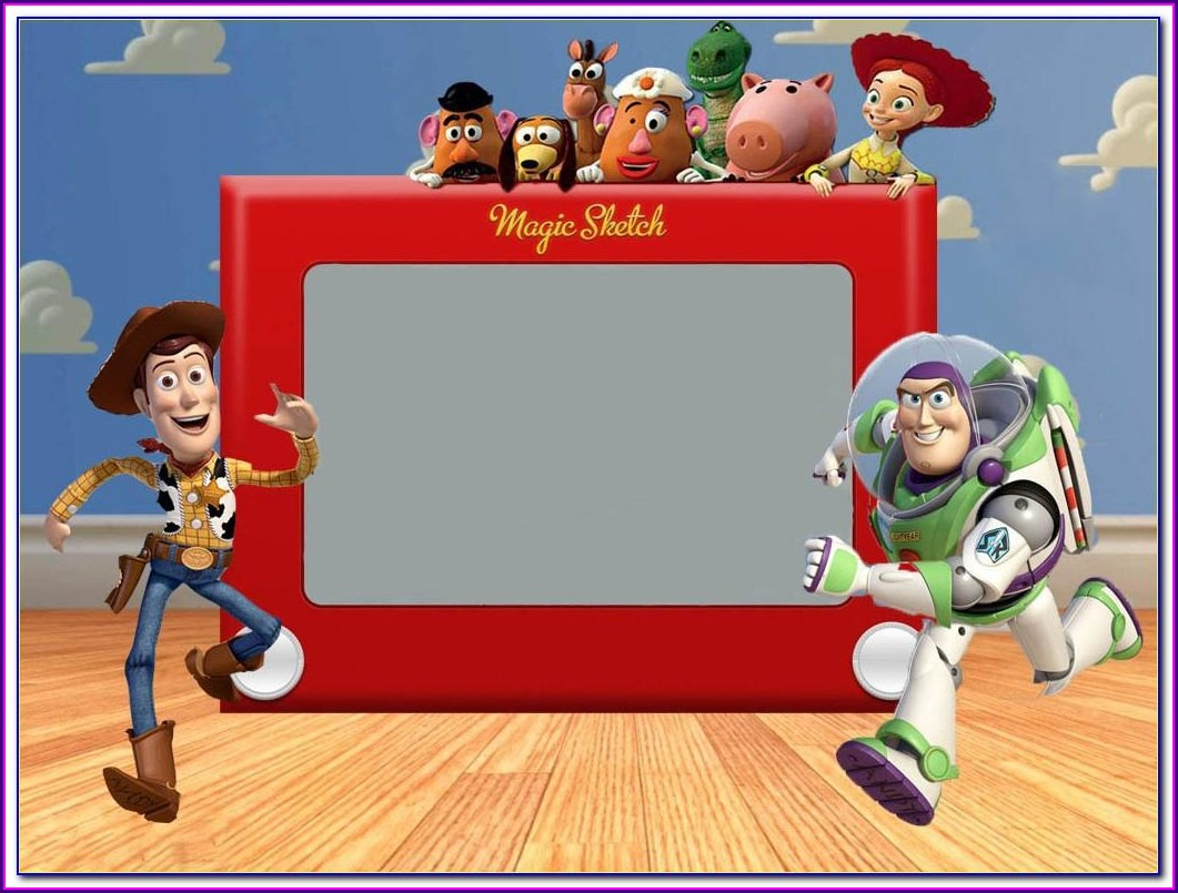 Blank Toy Story Birthday Invitations