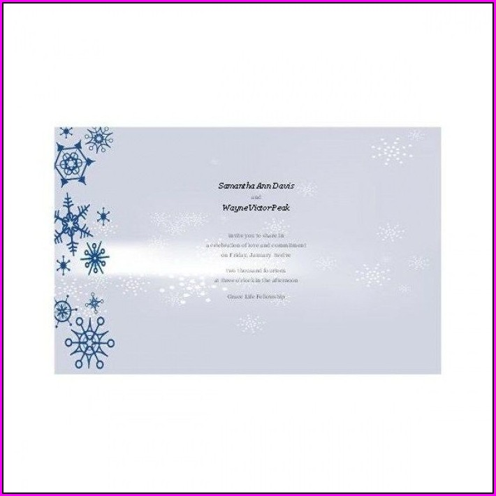 Blank Winter Wonderland Invitation Template Free