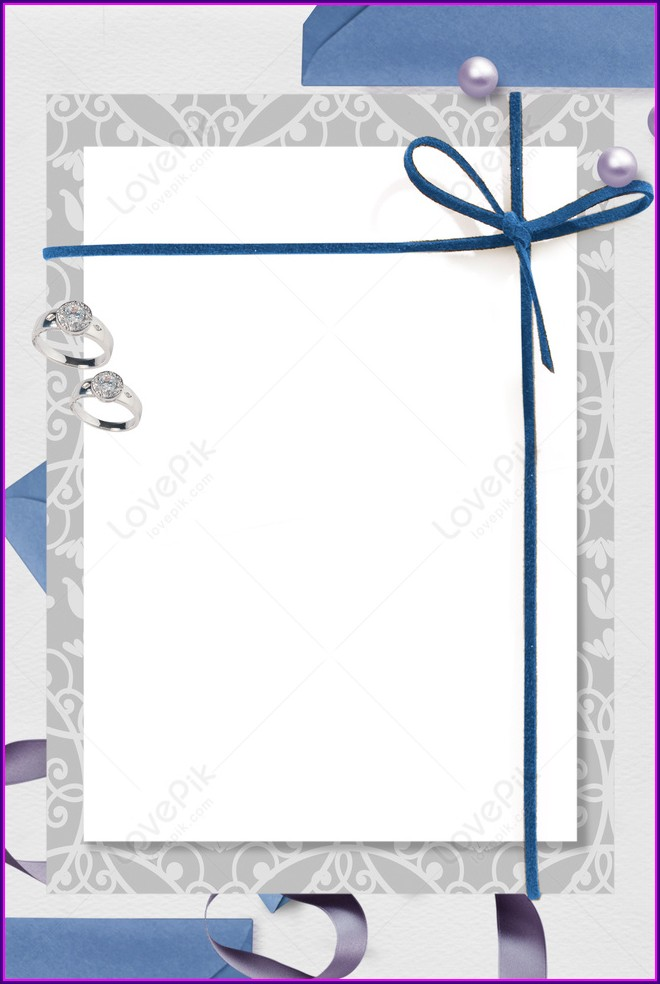Blue Wedding Invitation Background Images Hd