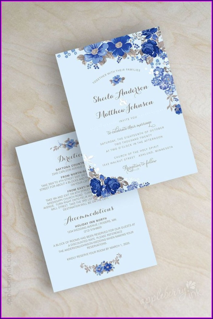 Blue Wedding Invitation Ideas
