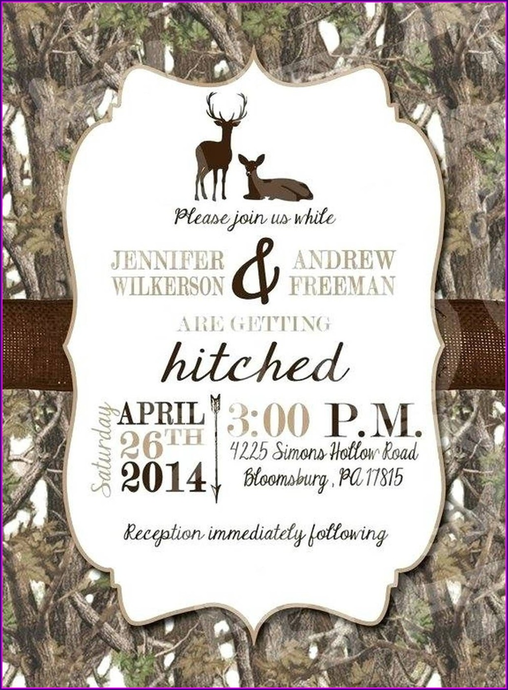 Cheap Camo Wedding Invitations