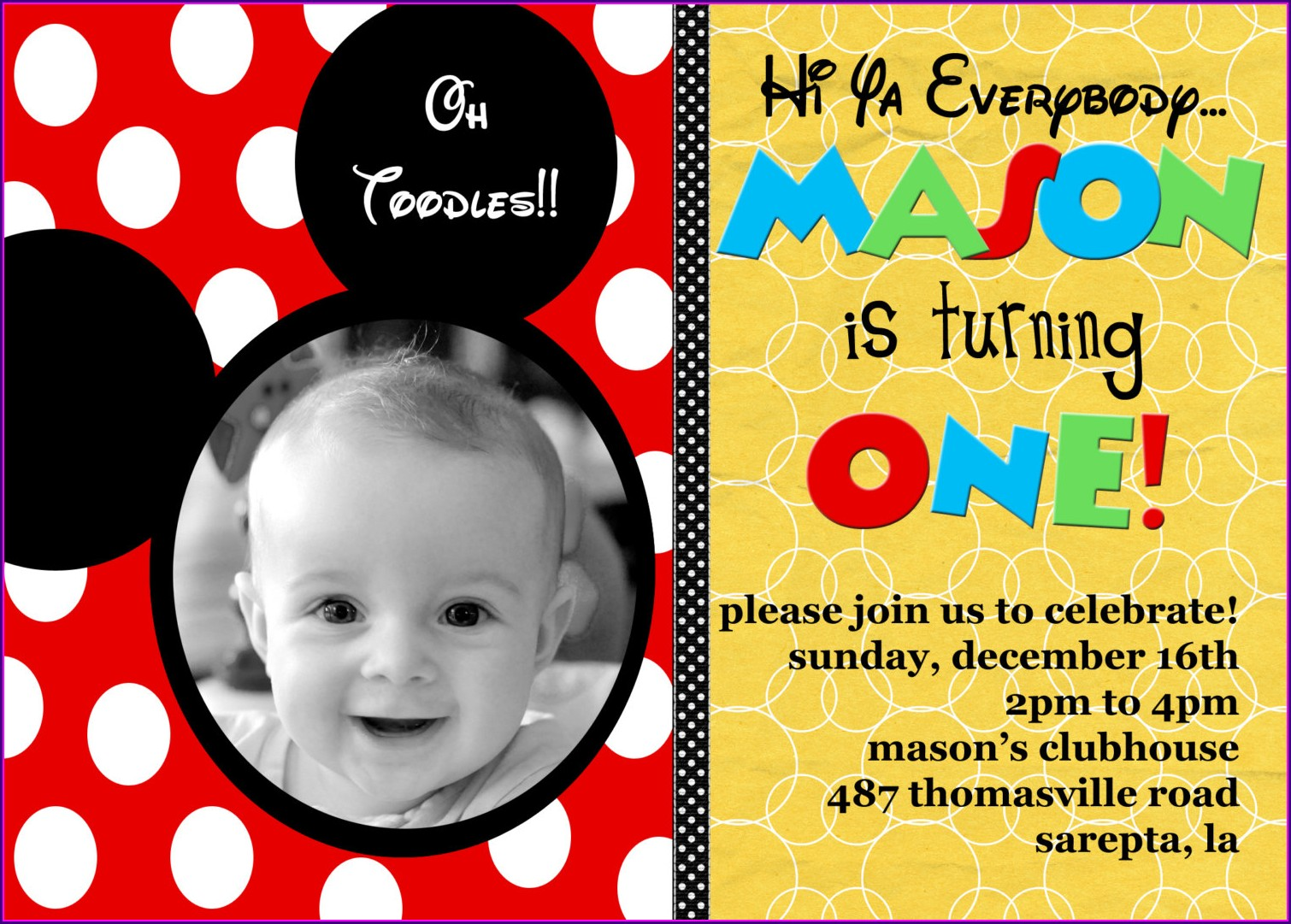 Create Birthday Invitation Card With Photo Free Online