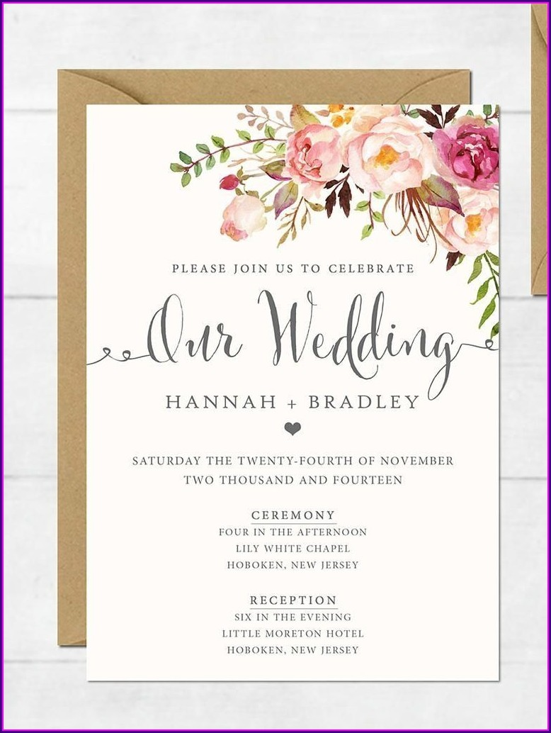 Create Your Own Invitations Free Printable