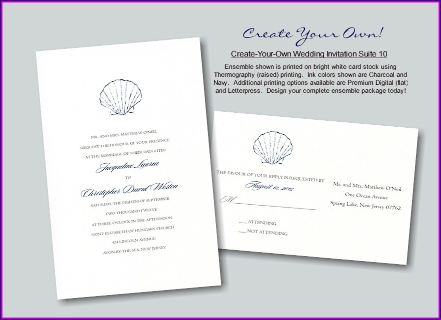 Create Your Own Wedding Invitations Free