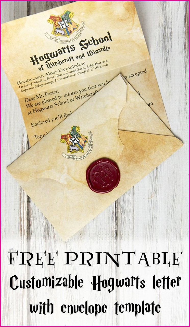 Customizable Harry Potter Invitation Template