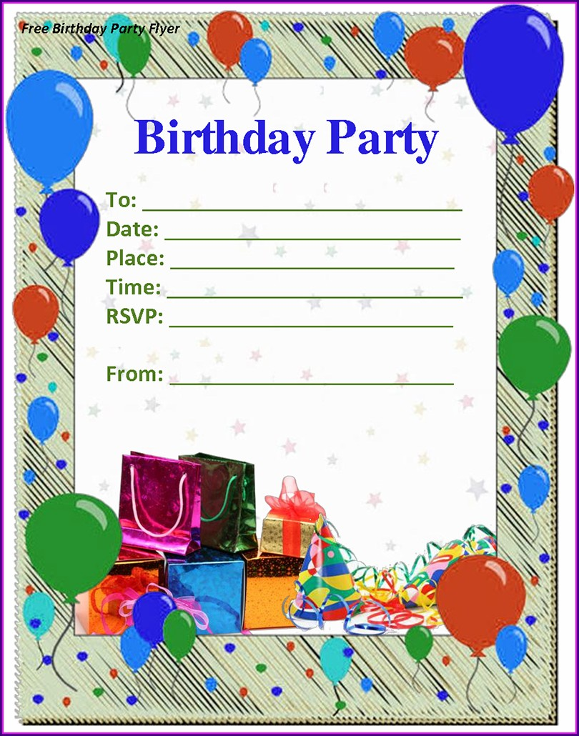 Design Create Birthday Invitation Card With Photo Free